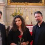 5.festiwal organowy od lewej dr A. Załęski, N.Zanni-Lewandowska, A.Lewandowski