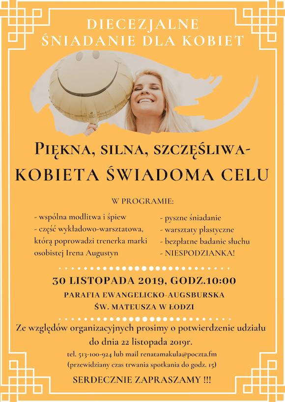 Diecezjalne Śniadanie dla Kobiet plakat