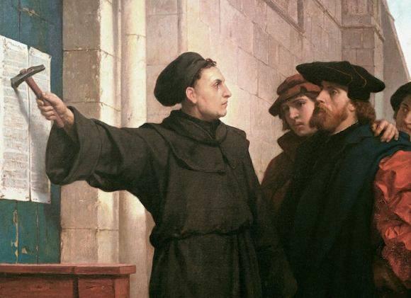 Przybicie tez. Obraz F. Pauwelsa z 1872
