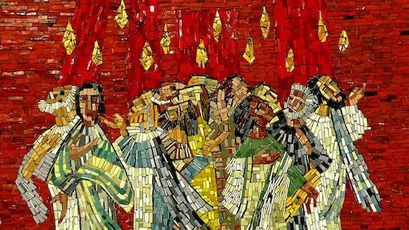 mosaic luteranie.pl Zesłanie Ducha Świętego